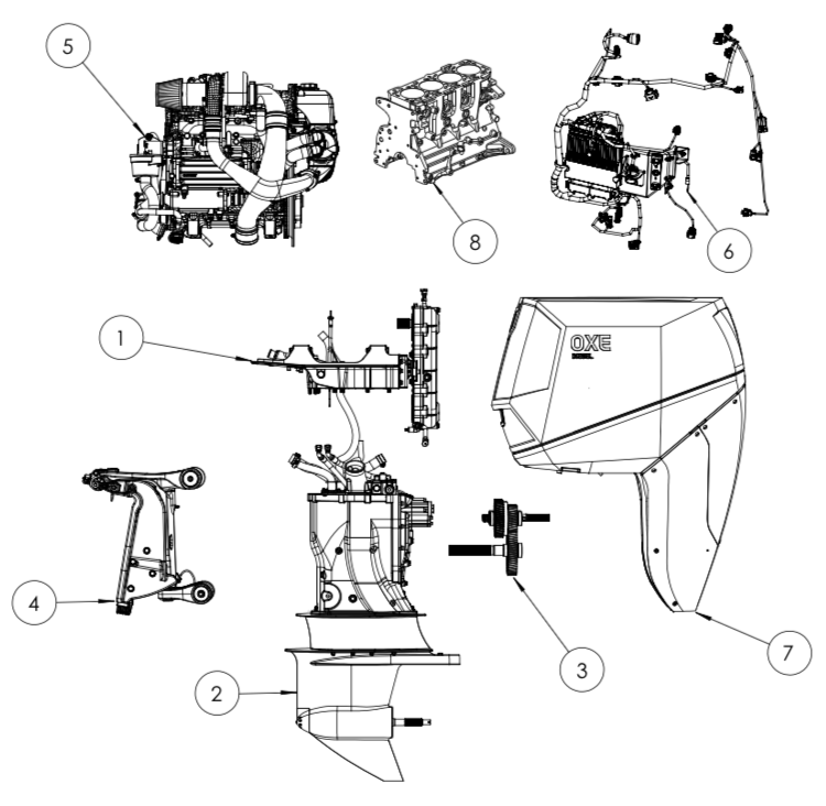 Diagram Marine Engine Parts